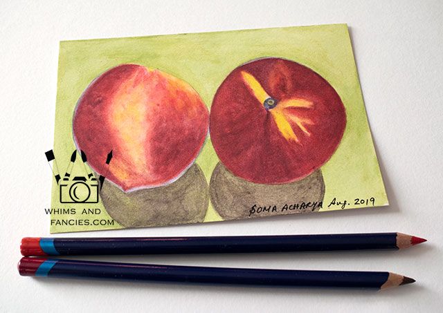 Summer Peaches Kitchen Art Print | Whims And Fancies
