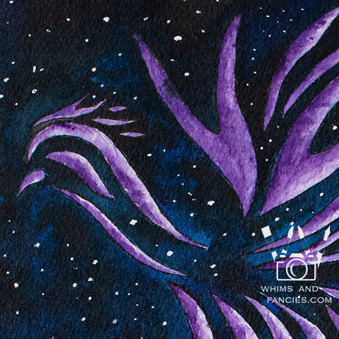 Ultraviolet Phoenix Watercolour | Whims And Fancies