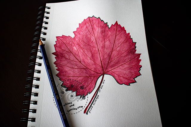Inktense Fall Leaf Painting | Whims And Fancies