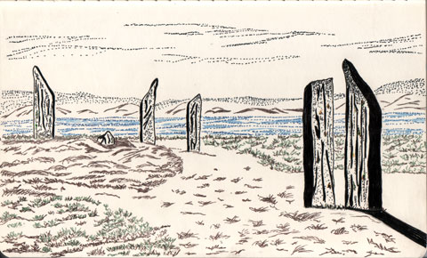 Ring Of Brodgar With Micron Pen