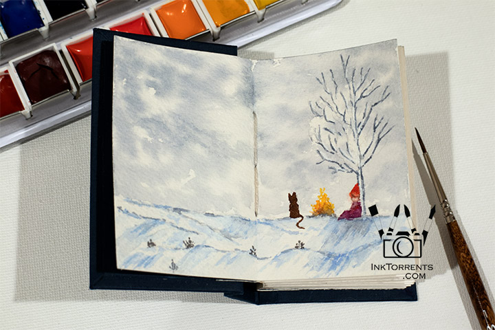 Mini Book Paintings - Inktorrents Graphics Soma Acharya