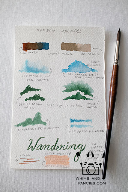 Landscape Painting Tombow Marker Review | Whims And Fancies