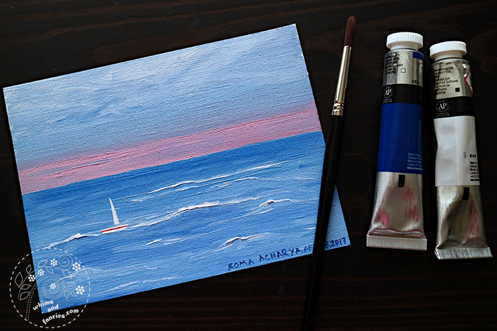 Whitby Sea with Winsor Newton Waterbased Oil | Whims And Fancies