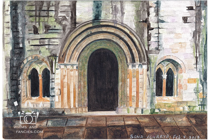Weathered Scottish Abbey - Print From Original Artwork | Whims And Fancies