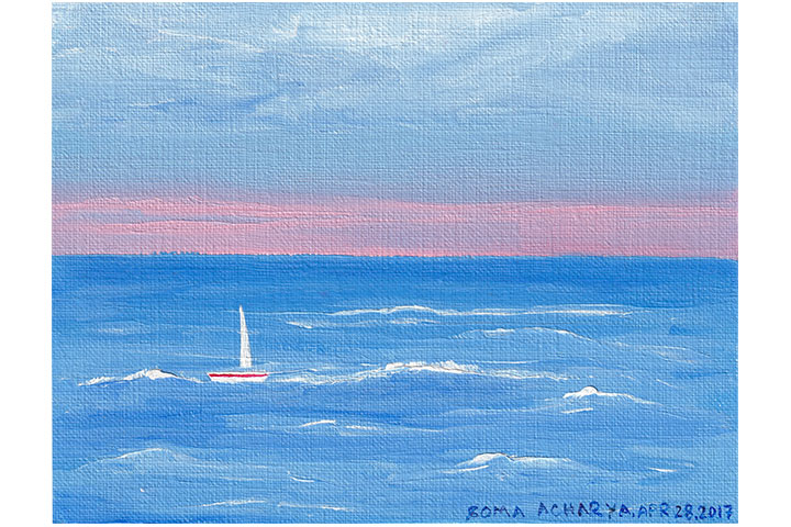 Summer Sailing In Whitby, Yorkshire - Print From Original Artwork | Whims And Fancies