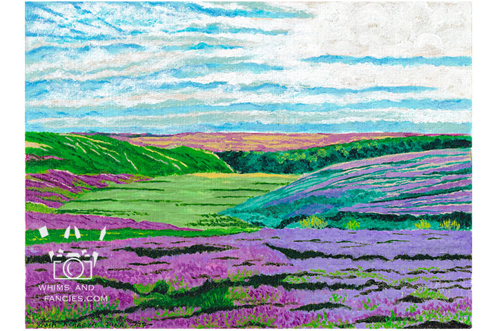 Heather In The Yorkshire Moors - Print From Original Artwork | Whims And Fancies