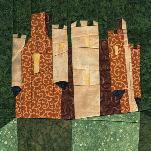 Wonky Castle Quilt Pattern - April