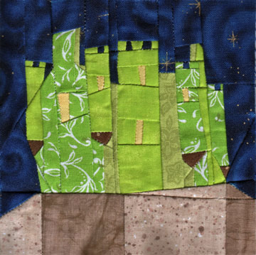 Wonky Castle Quilt Block for April