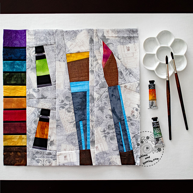 Artist Paintbox Quilt Pattern | Whims And Fancies