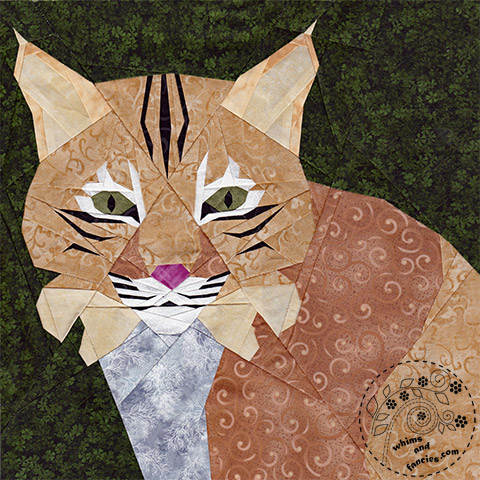 Bobcat quilt pattern, Big cat quilt pattern | Whims And Fancies