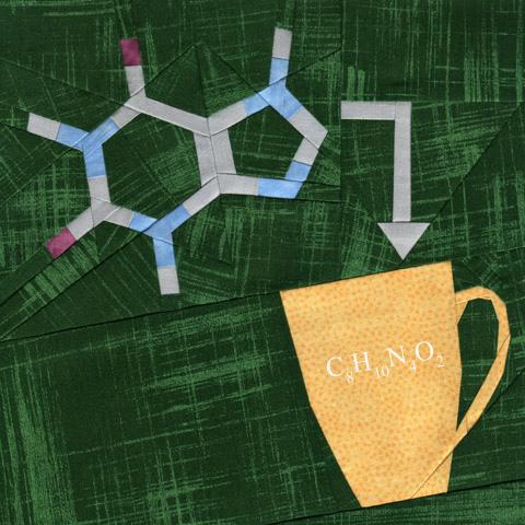 Caffeine Chemistry Quilt Pattern