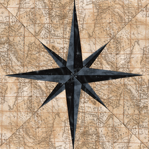 Compass Needle - Paper Piecing Pattern