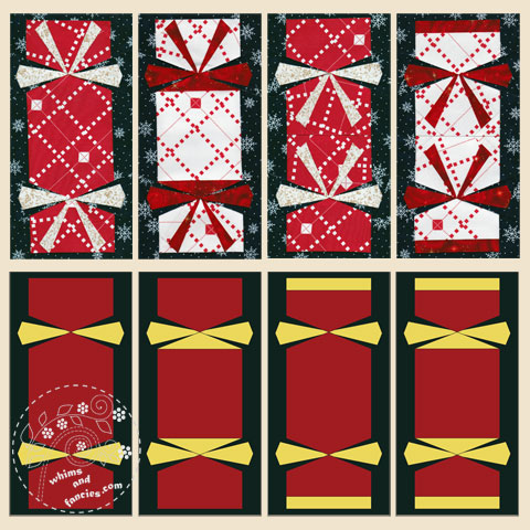 Christmas Crackers Quilt Pattern | Whims And Fancies