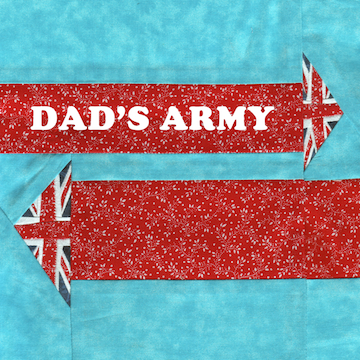 Dad's Army Free Paper Piecing Quilt Block Pattern