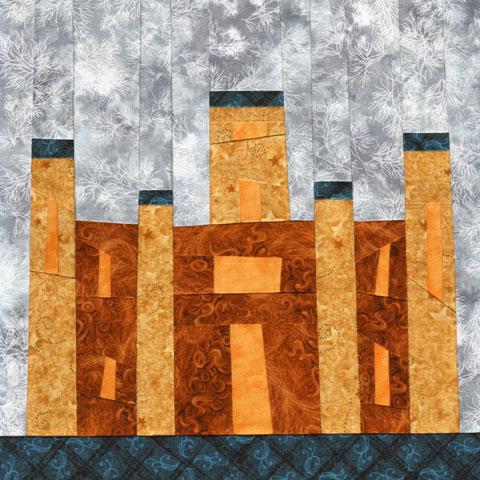 Wonky Castle Quilt Pattern - December