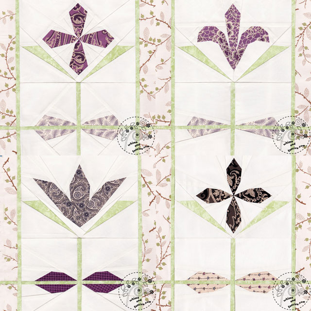 Downton Abbey Stained Glass Flower Quilt Patterns | Whims And Fancies