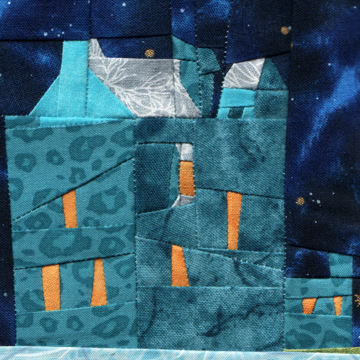 Wonky Castle Quilt Block for February