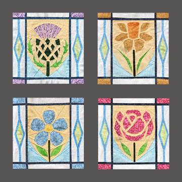 Flowers Of The United Kingdom Quilt Patterns