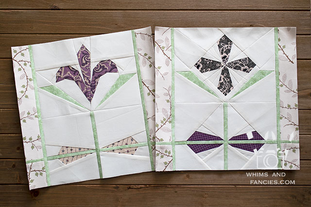 Stained Glass Flower Quilt Pattern | Whims And Fancies