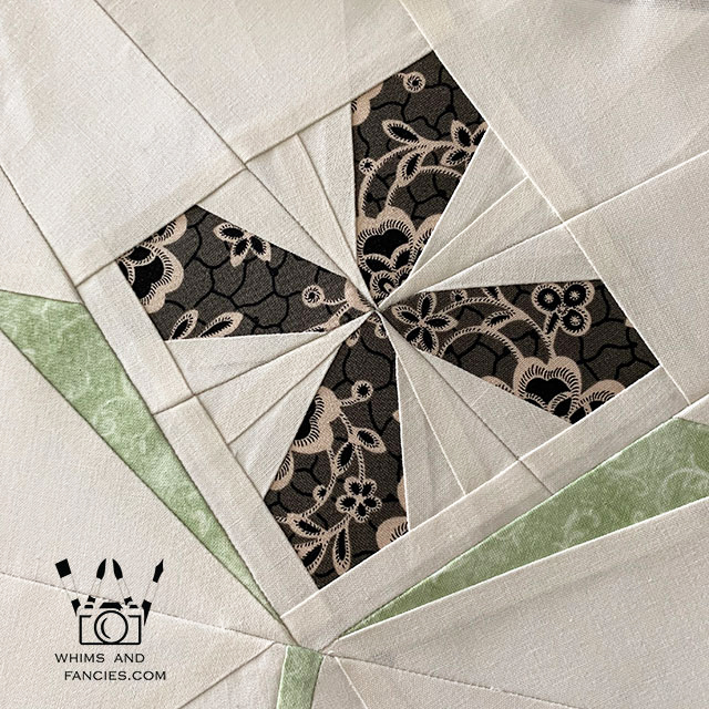 Downton Abbey Stained Glass Flower Quilt Pattern | Whims And Fancies