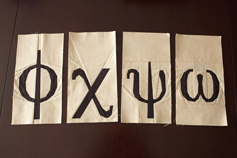 Greek Letters Quilt Pattern - Phi, Chi, Psi, Omega | Whims And Fancies