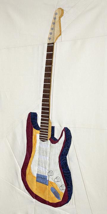 Guitar Quilt Pattern