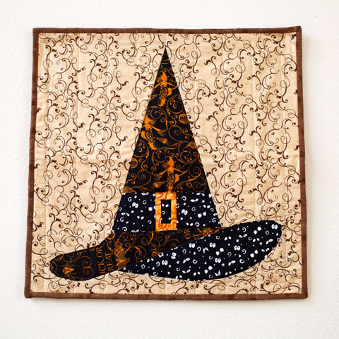Halloween Witch Hat Quilt Pattern | Whims And Fancies