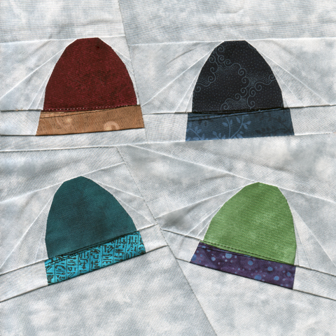7 Inch Paper Pieced Winter Accessory Hats Pattern