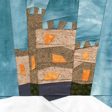 Wonky Castle / House Block Of The Month Paper Piecing Pattern - January