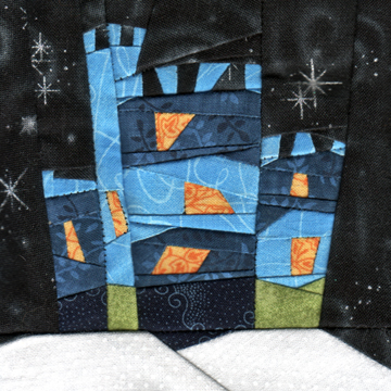 Wonky Castle Quilt Block for January