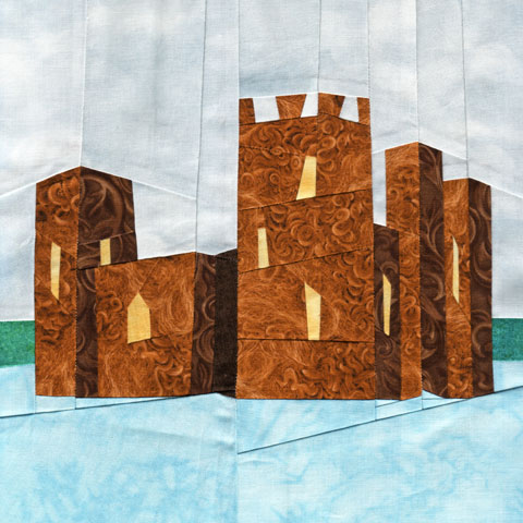 Wonky Castle Quilt Pattern - July