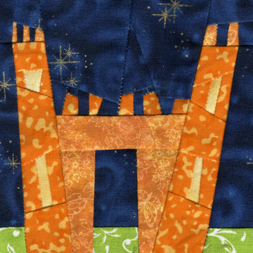 Wonky Castle Quilt Block for June