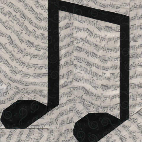 Paper Pieced Music Notes