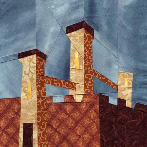 Wonky Castle Quilt Pattern - November