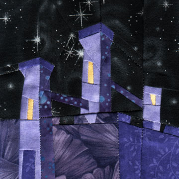 Wonky Castle Quilt Block November Swap