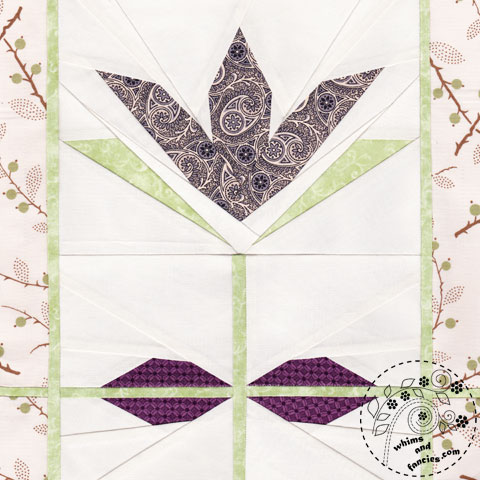 Olivine Tulip Flower Quilt Pattern | Whims And Fancies