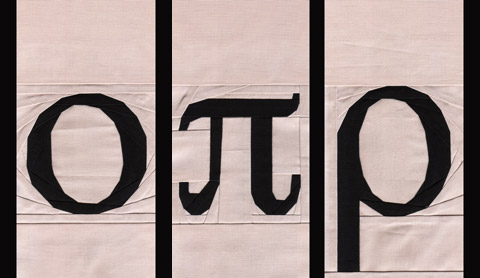 Greek Letters Omicron, Pi, Rho Quilt Patterns | Whims And Fancies