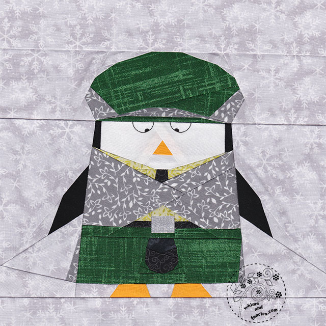 Scottish Penguin In A Kilt Quilt Pattern | Whims And Fancies