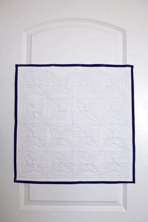 Purple Star Quilt Back