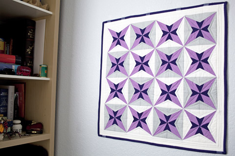Purple Star Quilt Pattern | Whims And Fancies
