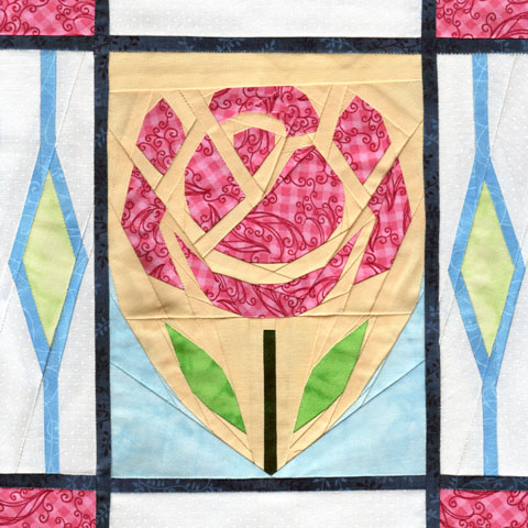 English Rose paper piecing quilt pattern