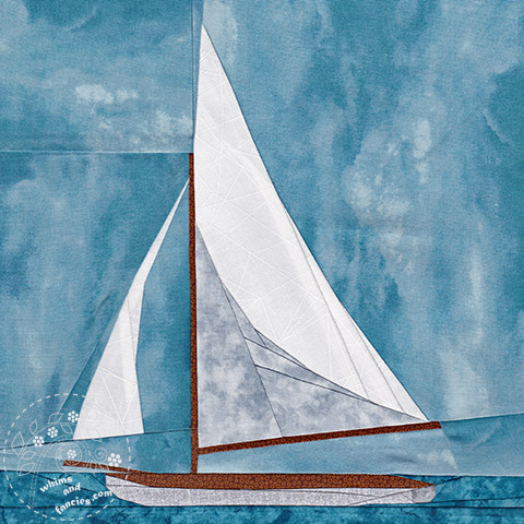 Summer Sailboat Quilt Pattern | Whims And Fancies