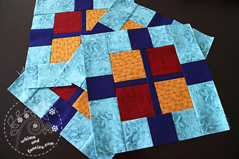 Squares And Plus Quilt | Whims And Fancies