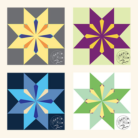 Sunburst Star Quilt Pattern | Whims And Fancies