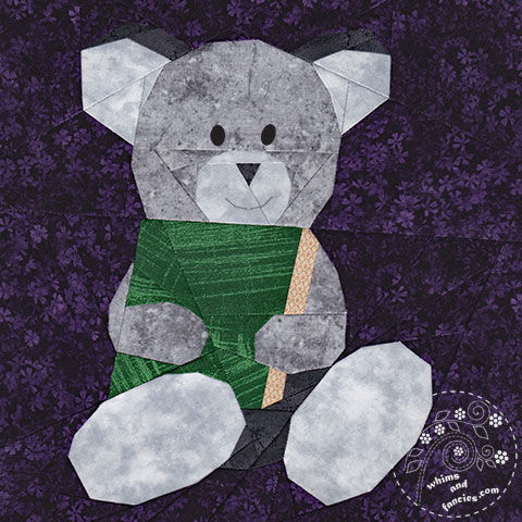 Story Book Teddy Bear Quilt Pattern | Whims And Fancies