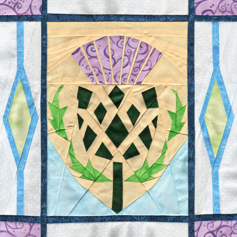 Scottish Thistle Paper Piecing Quilt Pattern