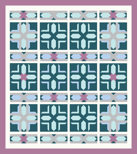 Star Quilt Layout | Whims And Fancies