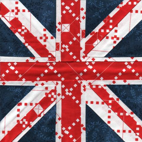 Union Jack Paper Pieced Pattern