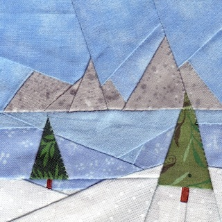 Winter Meadow Paper Piecing 3""