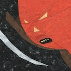 Angry Pumpkin For Halloween Free Paper Piecing Quilt Block Pattern